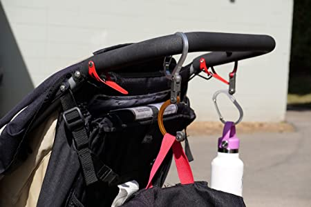 Heroclip - Bolso de bebé con mosquetón Giratorio para bebé, Color Rojo: Amazon.es: Deportes y aire libre