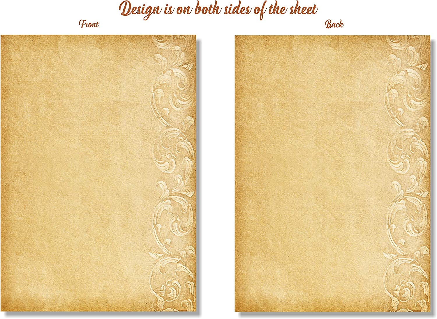 120gsm A4 Size 25 Sheets Prestige Vintage Looking Victorian Old Style Paper