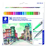Amazon Price History for:STAEDTLER double ended fiber-tip markers, for sketching, drawing, illustrations, and coloring, 36 vibrant colors, washable, 320 C36 LU