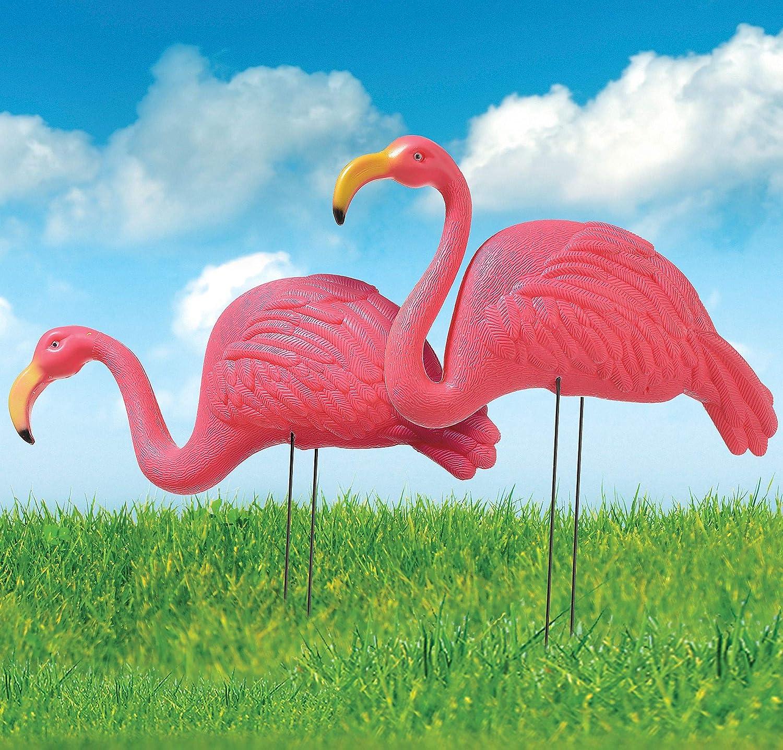 Amscan International 190519 Hawaiian Flamingo Garden Stakes