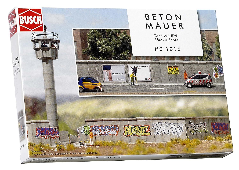 Busch 1016 - Modellismo, muro in calcestruzzo