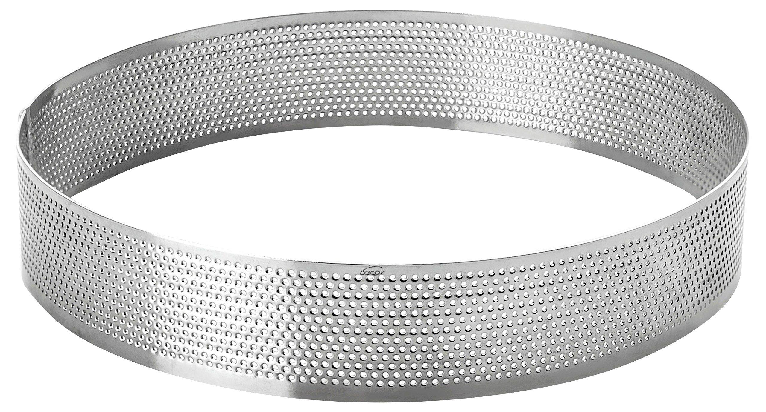 LACOR 68544 Perforated Cake Mould, 24 x 2 cm, Silver by LACOR
