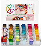 Friendship Bracelet String Kit - 276pcs Embroidery Floss and Accessories - Labeled with Embroidery Thread Numbers for…