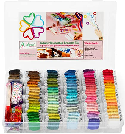Premium DIY Friendship Bracelet String Kit Embroidery Thread and Accessories - Colors are Coded Embroidery Floss - Cross Stitch, String, Thread Craft Supplies - Perfect Gift for Girls 7 to 12 best gifst for VSCO girls