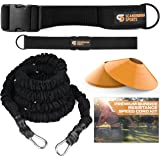 Scandinavian Sports Bungee Resistance Speed Band Set – 360° Rotation, 80 lbs Resistance Strength Bungee Cord 22ft Length…