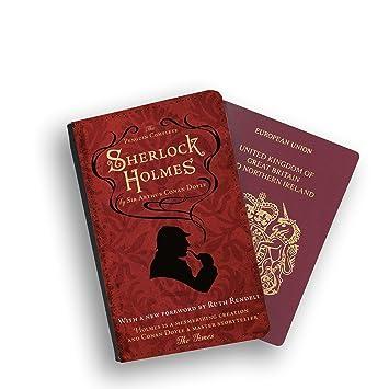 Sherlock Holmes Novel Baker Street Detective Passport Wallet Card Holder Boarding Pass Travel Protection Flip Cover Case with Elastic