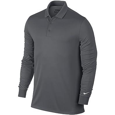 44b1425cbf5 Nike Mens Victory Long Sleeve Polo Shirt (M) (Dark Grey White ...