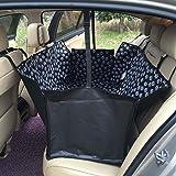 Doubili ペット用 カーシートカバー 車後部座席 防水 滑り止め 折り畳み式 大中小型車用 3WAYの使い方 150*130*55CM (ブラック)