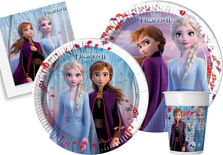 Kit de fiesta. Frozen II S(8 persone) multicolor: Amazon.es ...