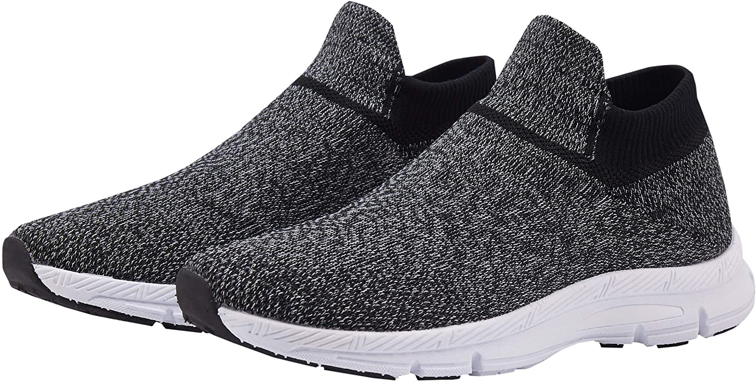 Phefee Boys Fashion Ultra Lightweight Sock Shoes Comfortable and Breathable Casual Sporty Walking Knitted Footwear (Black35)