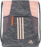 Adidas Unisex Alliance Ii Sackpack Backpacks, Jersey Onix/Glow Pink/Hi Res Coral/Onix, One Size
