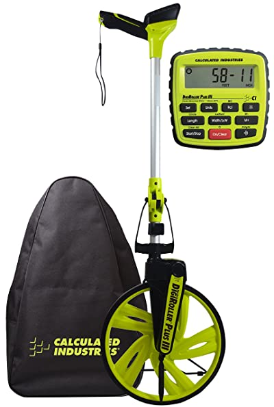 Calculated Industries #6575 DigiRoller Plus III 12.5 Inch Estimators Electronic Distance Measuring Wheel