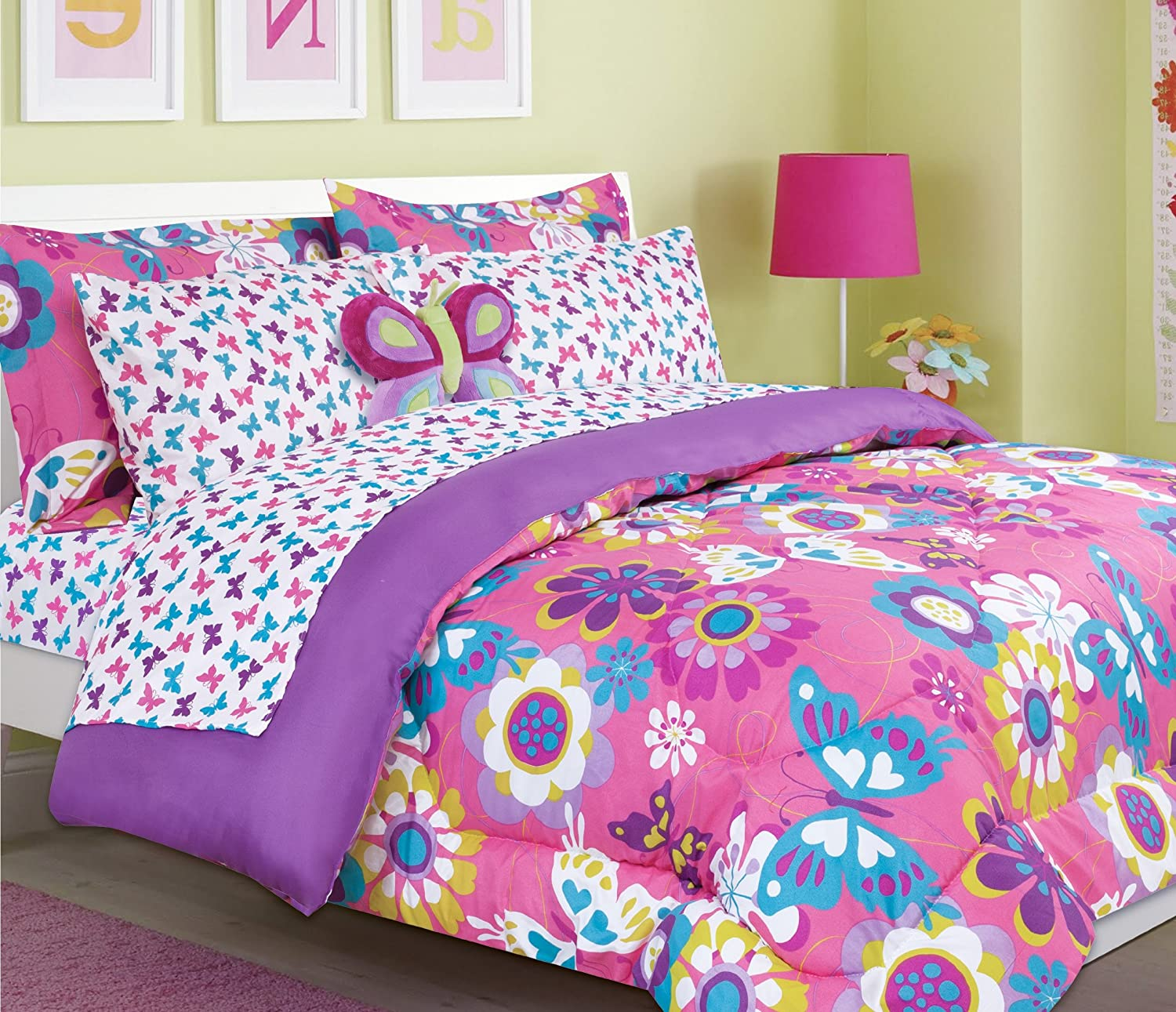 Amazon Beautiful butterfly and flower print girls teen