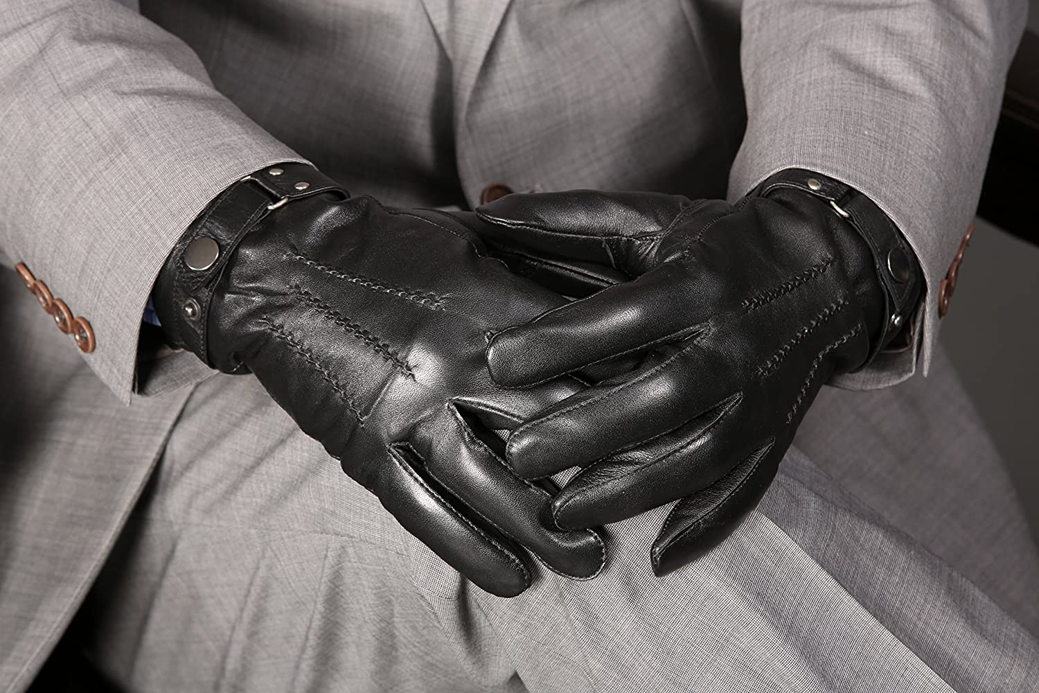 Philadelphia Mens Leather Gloves with Touch Function MoDA Mens Mr