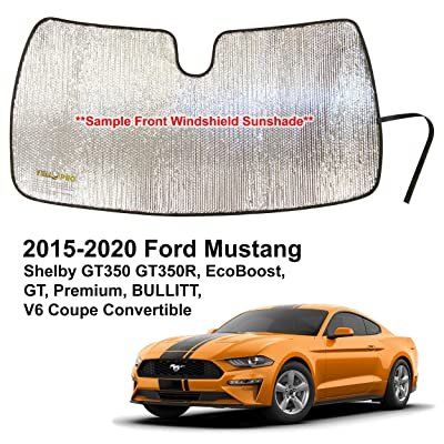 YelloPro Custom Fit Automotive Reflective Front Windshield Sunshade Accessories for 2015 2016 2020 2020 2020 2020 Ford Mustang Shelby GT350 GT350R, EcoBoost GT Premium Bullitt V6 Coupe Convertible: Automotive