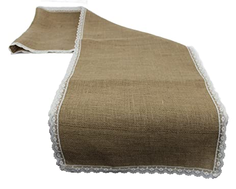 Lace Burlap Table Runner 18 X 100 Inch
