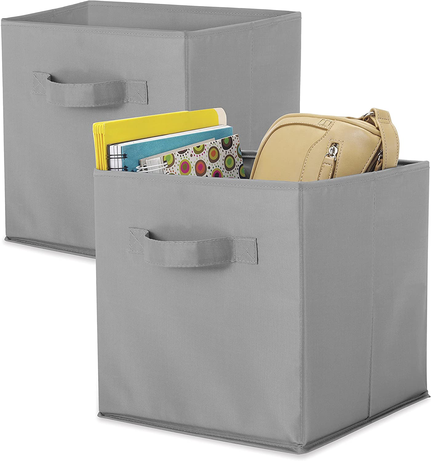 Whitmor Set of 2-10 x 10 x 10 inches-Gray Collapsible Cubes