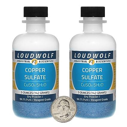 Amazon com: Copper Sulfate/Dry Powder / 10 Ounces / 99 7