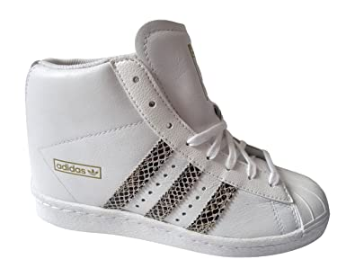 adidas Superstar Up Hi Top Baskets Femme - Blanc - Ftwwht/Ftwwht/LGSOGR,