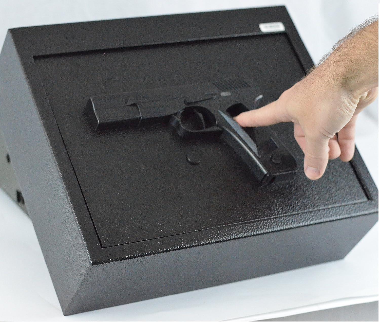 BOOMSTICK Biometric Fingerprint Drawer Personal Gun Safe, Black