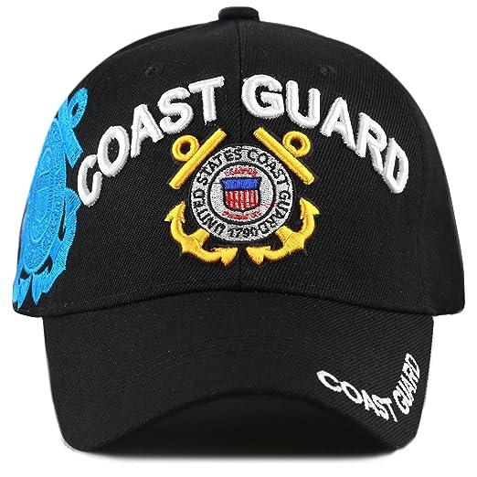 57672ed0b0d THE HAT DEPOT Official Licensed Military U.S. Coast Guard Cap (Black ...