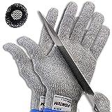 FORTEM Cut Resistant Gloves, 1 Pair (2 Gloves), Level 5 Protection, Food Grade, EN388 Certified (Extra Large)