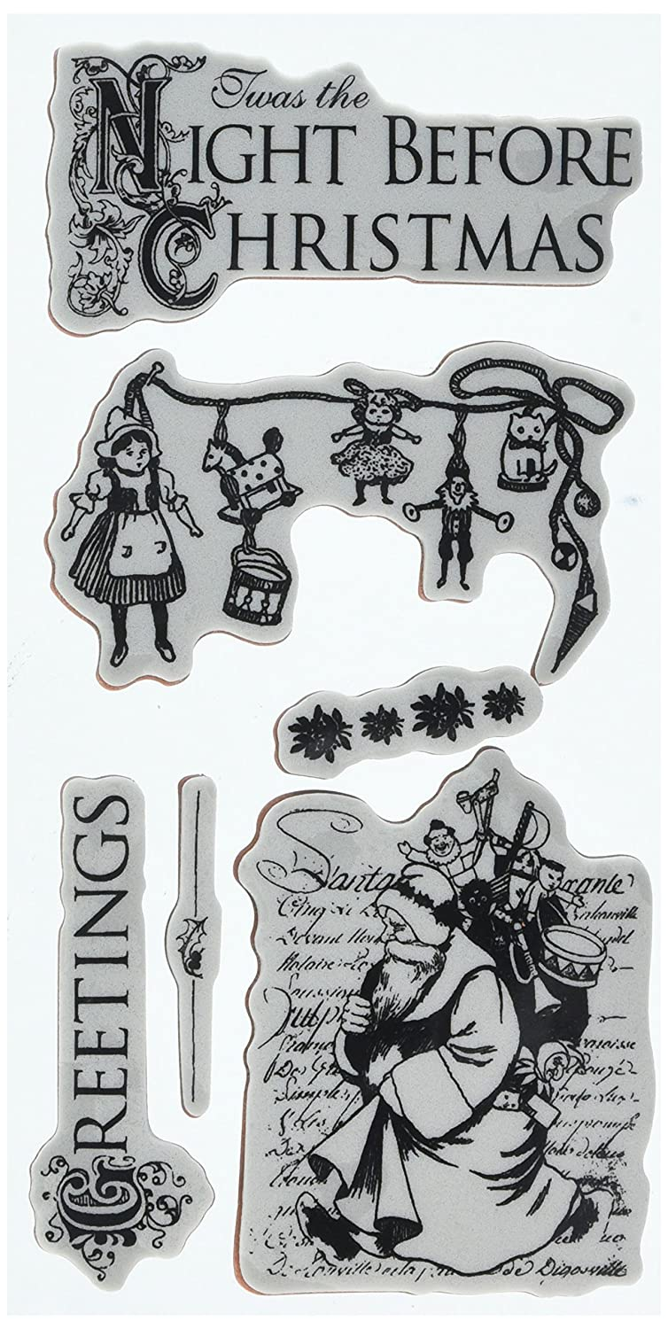 No.1 Graphic 45 TWAS The Night Before Christmas Cling Stamps