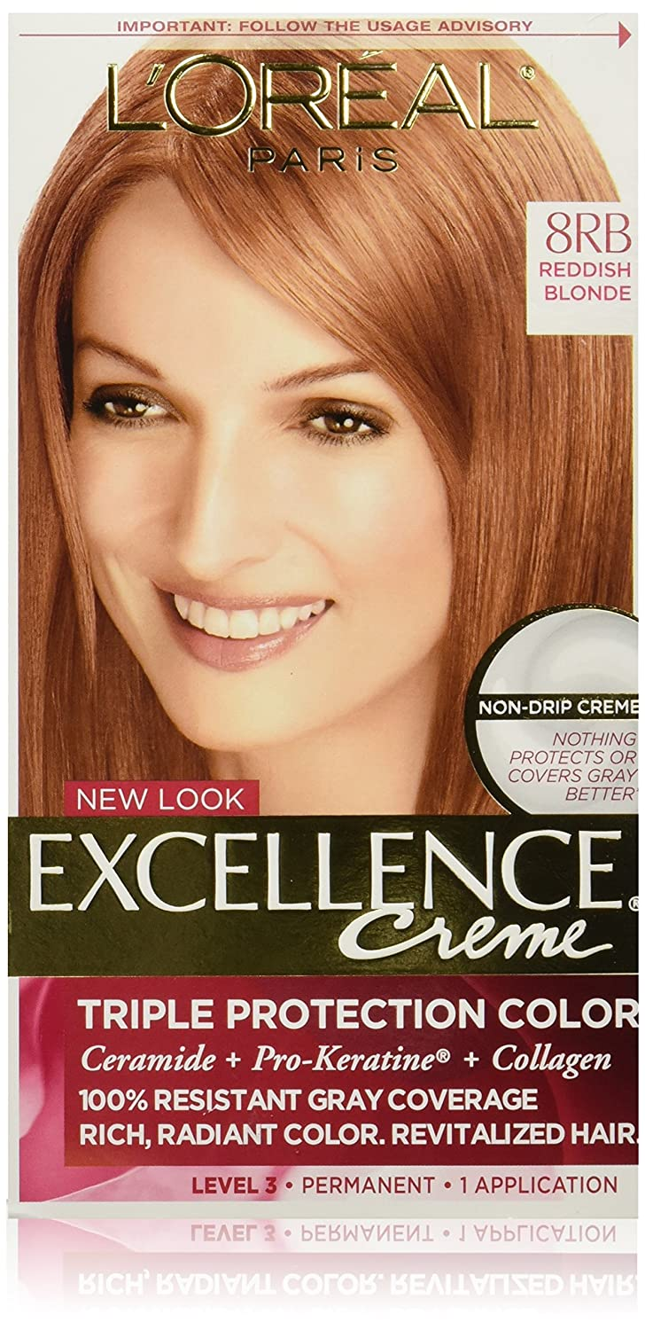 Loreal excellence triple protection hair color creme 8rb reddish loreal excellence triple protection hair color creme 8rb reddish blonde 1 ea amazon beauty geenschuldenfo Images