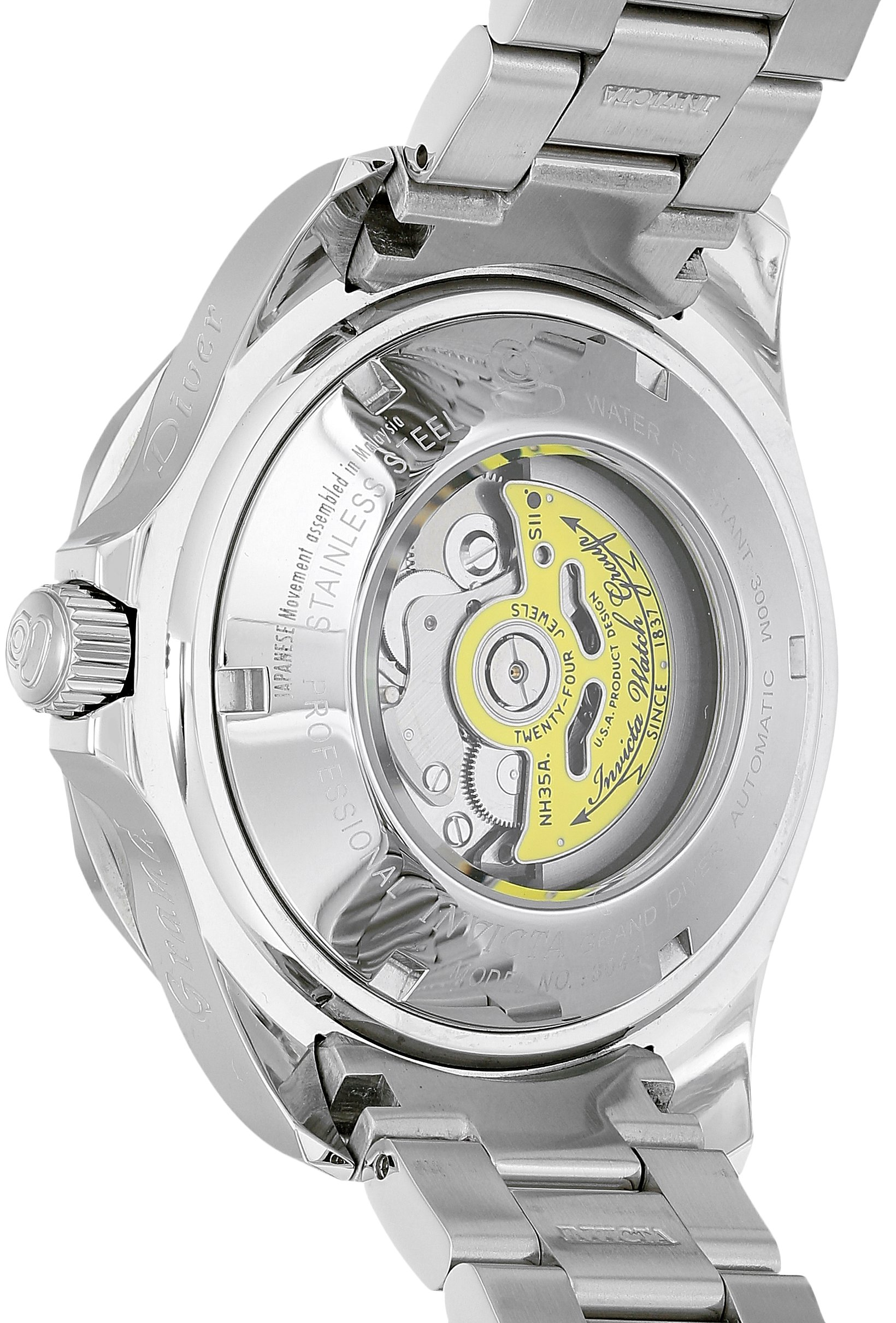 Invicta Men's 3044 Stainless Steel Grand Diver Automatic Watch, Silver/Black by Invicta (Image #2)