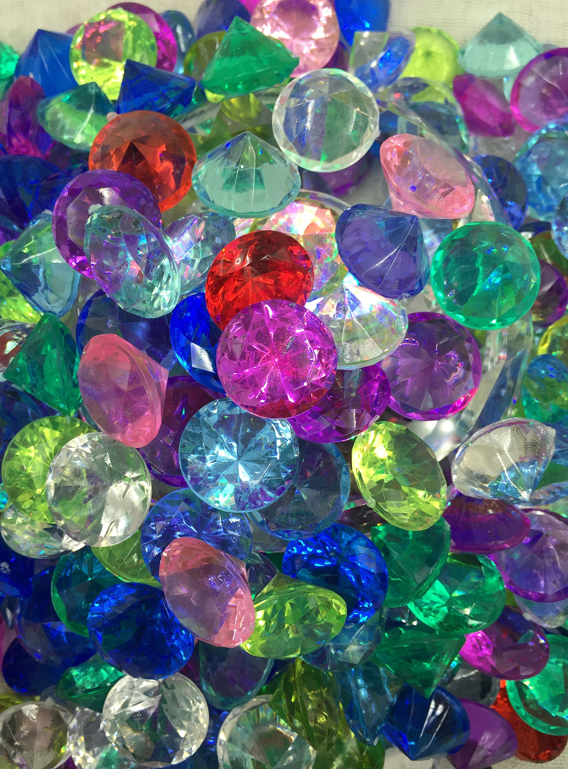 SunRise 480+ Pieces Multi-Colored Acrylic Diamond Shape Pirate Treasure Jewels for Party Decoration,Event,Wedding, Vase Fillers, Arts & Crafts by SunRise