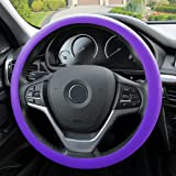 FH Group FH3001PURPLE Purple Steering Wheel Cover (Silicone Snake Pattern Massaging grip in Color-Fit Most Car Truck Suv or Van)