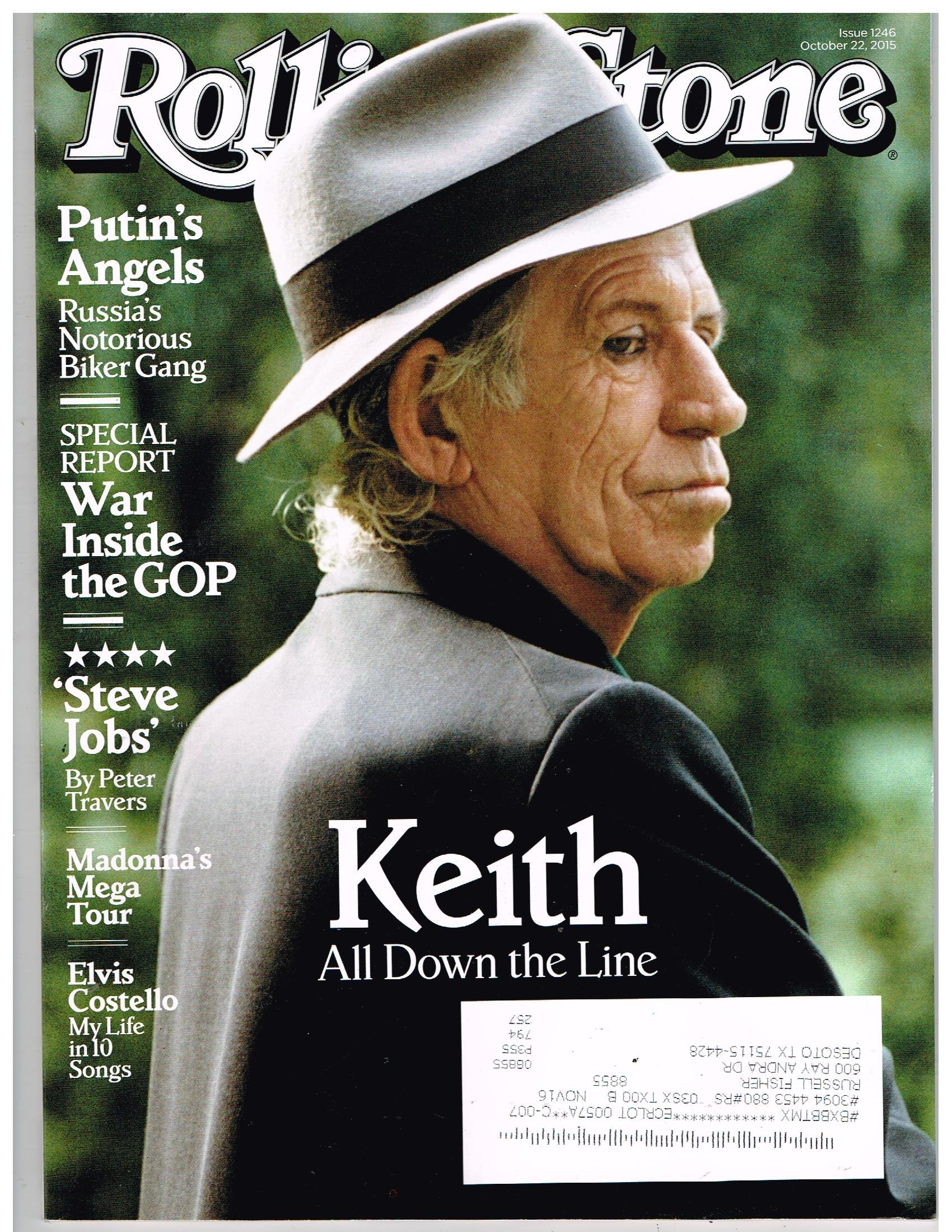 Read Online ROLLING STONE Magazine(Oct 22, 2015) Keith Richards: All Down The Line pdf epub