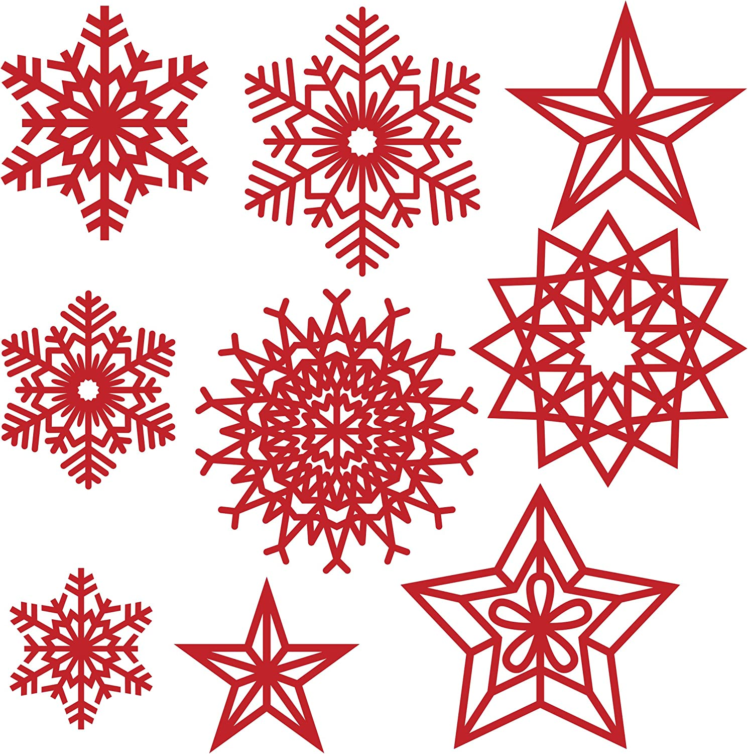 Xmas Snowflakes Trimcraft First Edition Metal Paper Card Craft Die Set