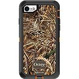 OtterBox Defender 系列手机壳适用于 iPhone 8 和 iPhone 7 (NOT Plus) - 简约包装 - Realtree MAX 5HD(亮橙色/黑色/MAX 5 设计)