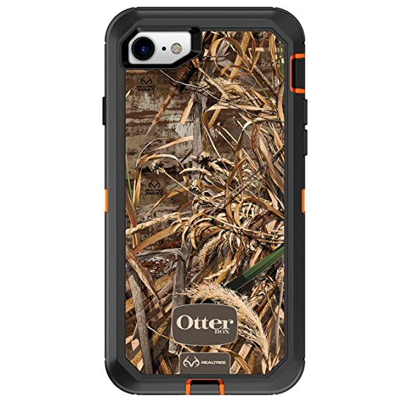 purchase cheap a0632 03f4b OtterBox DEFENDER SERIES Case for iPhone 8 & iPhone 7 (NOT Plus) -  Frustration Free Packaging - REALTREE MAX 5HD (BLAZE ORANGE/BLACK/MAX 5  DESIGN)