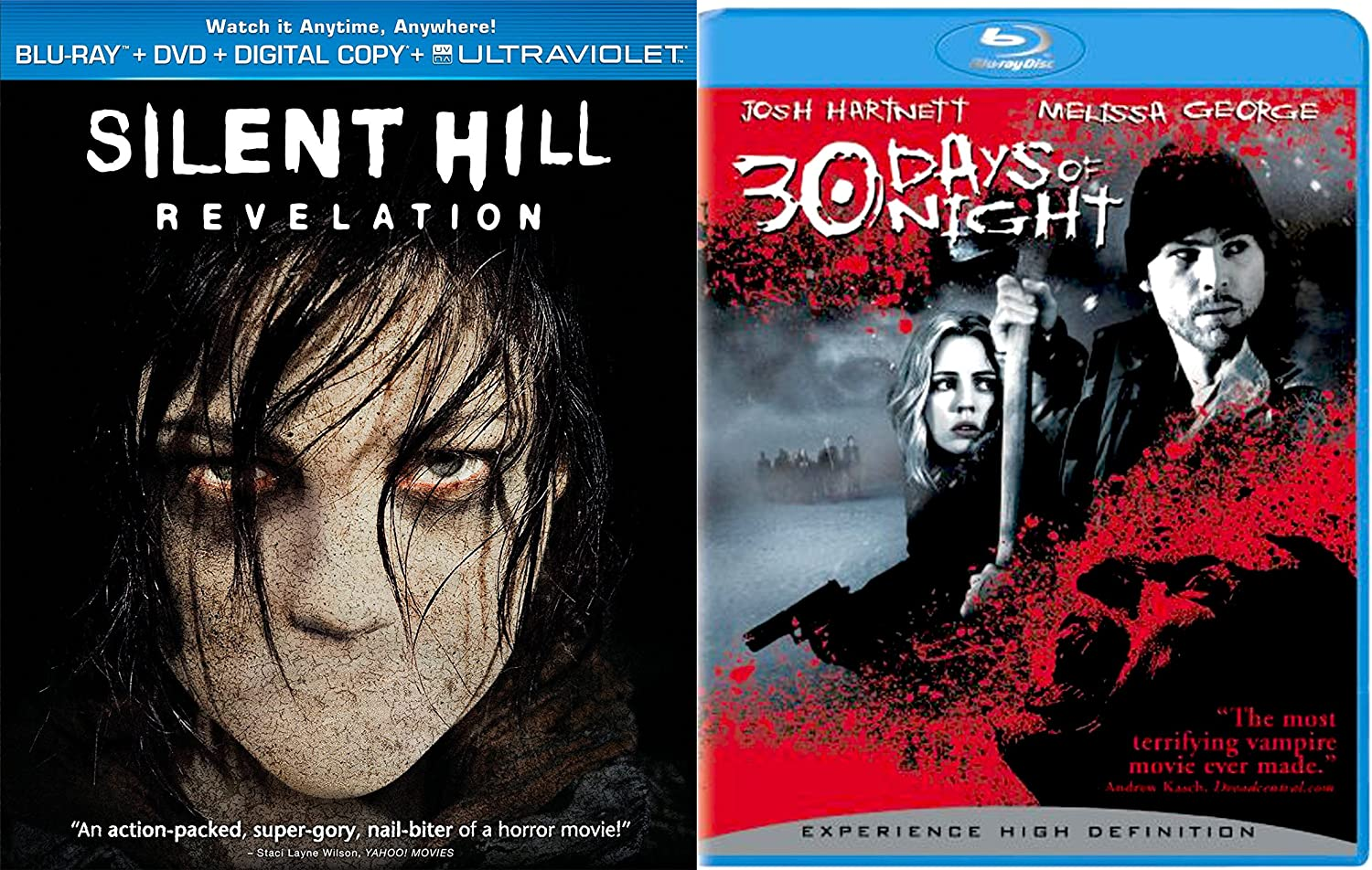 Amazon Com 30 Days Of Night Silent Hill Revelation Blu Ray 2 Pack Thriller Horror Movie Set Movies Tv
