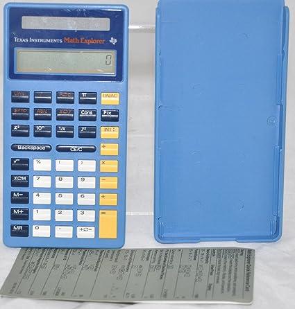 Amazon.com : Texas Instruments Math Explorer Calculator - Solar ...