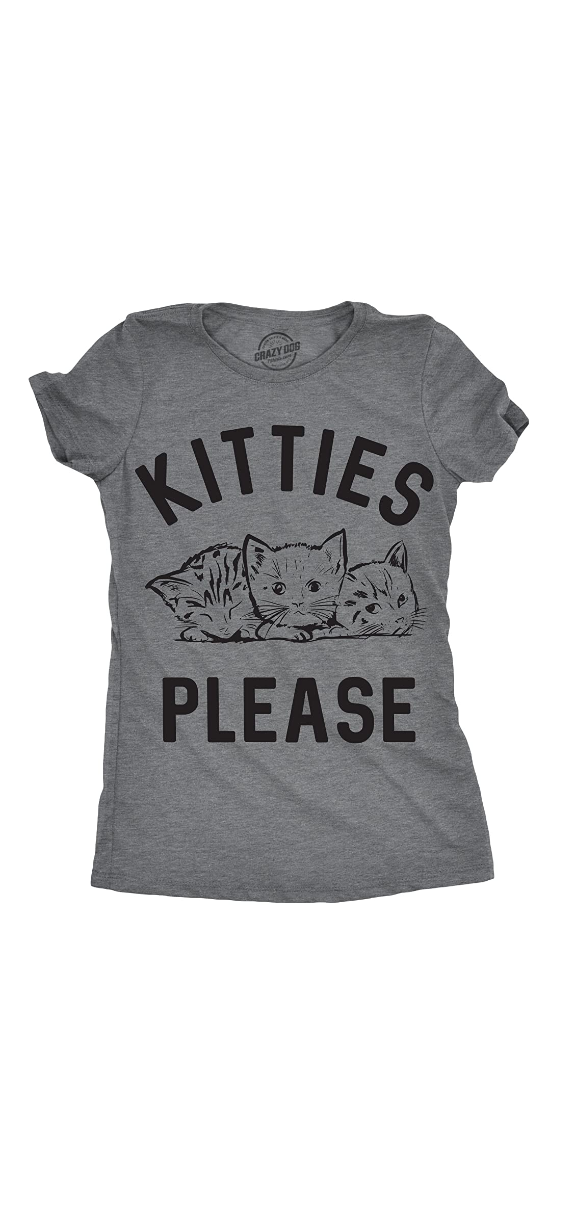 Womens Kitties Please T Shirt Cat Lover Gift Hilarious Sarcastic