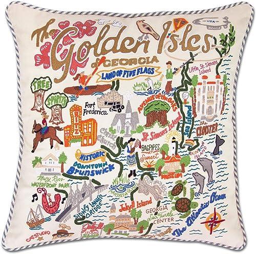 Catstudio Golden Isles Embroidered Decorative Throw Pillow