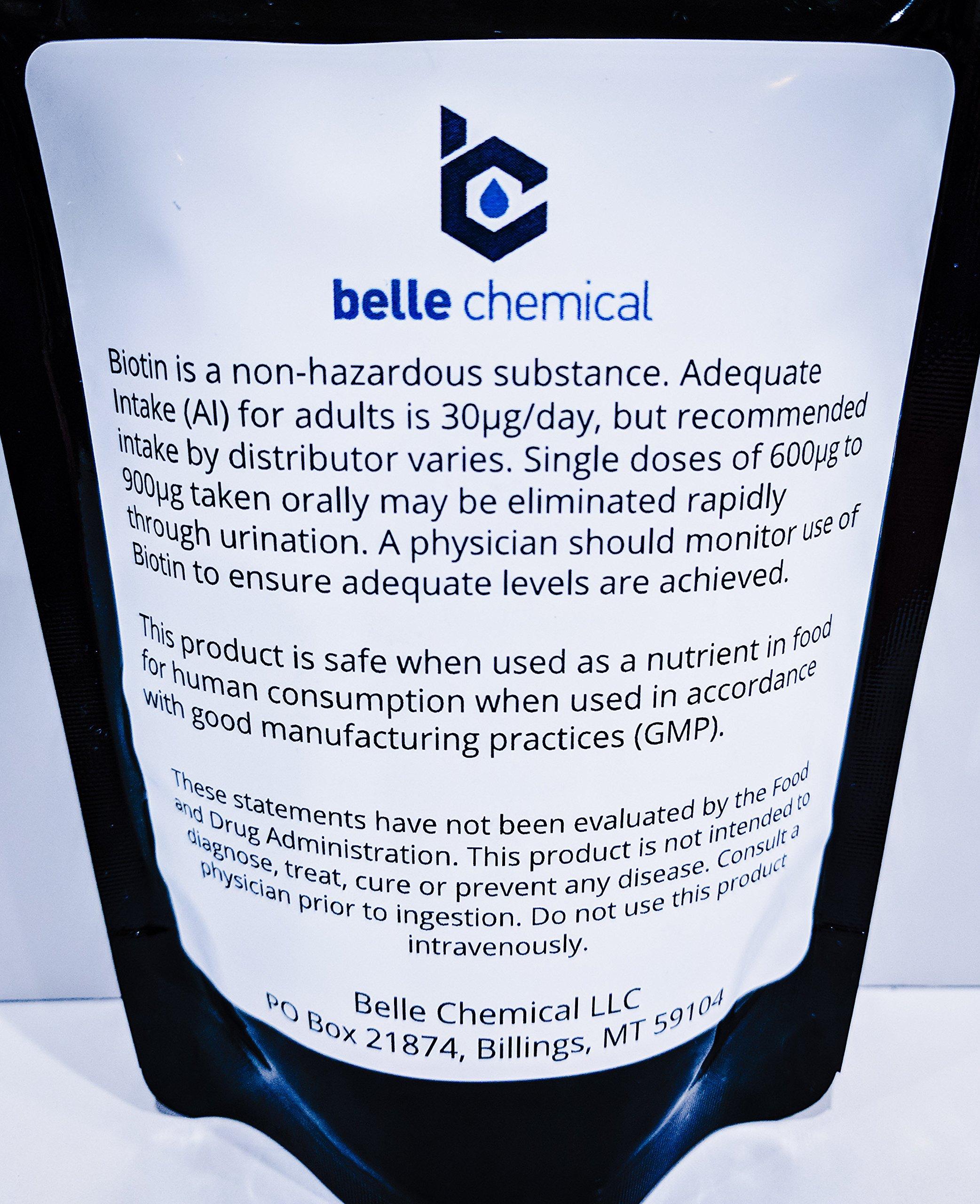 Biotin (Vitamin B7) Pure Powder 4oz (113g) Hair, Nails, Metabolism, Cell Growth