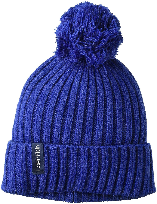 9ee385d5324 Calvin Klein Women s Basic Rib Pom Hat