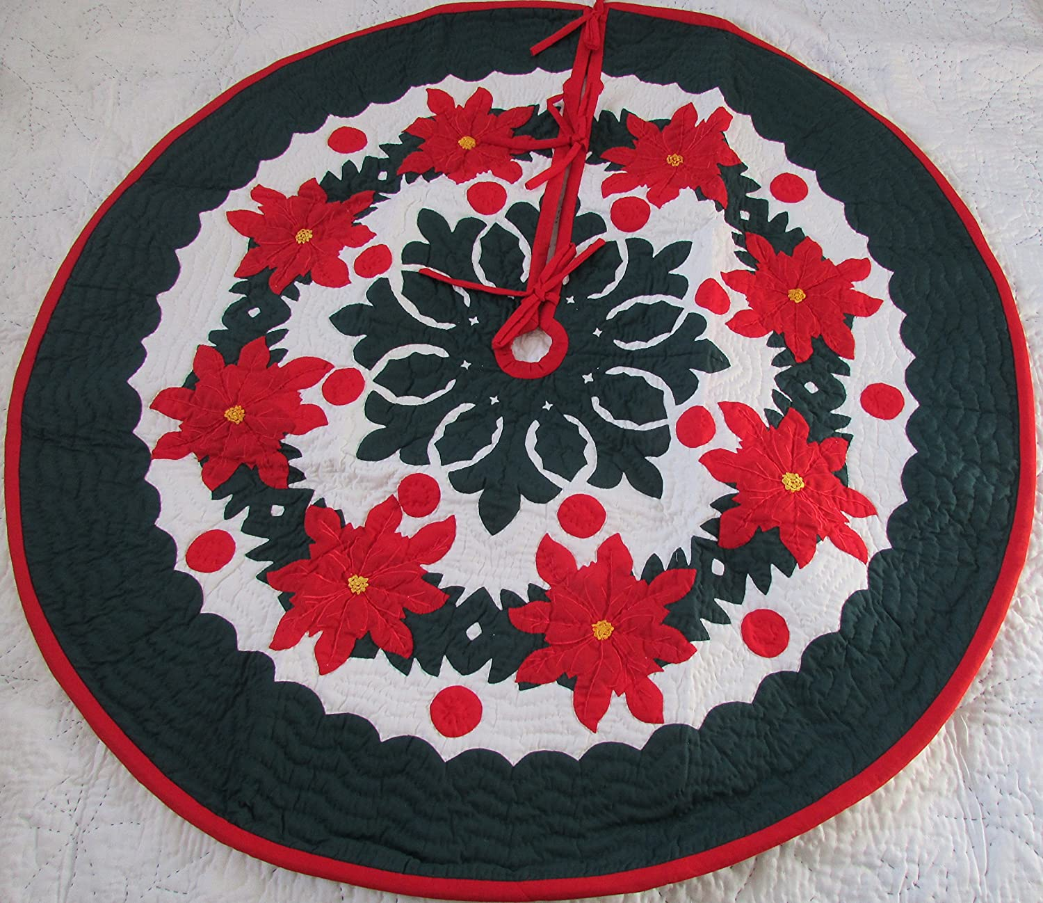 Amazon.com: Hawaiian quilt 100% hand quilted/hand appliqued ...