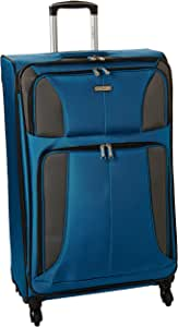 Samsonite Aspire XLite Softside Expandable Luggage with Spinner Wheels, Blue Dream, Checked-Large 29-Inch