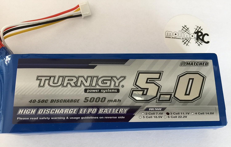 5000mAh 3S Lipo Akku 40-50C Turnigy