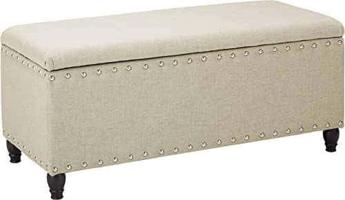 Christopher Knight Home Tatiana Fabric Storage Ottoman, Wheat