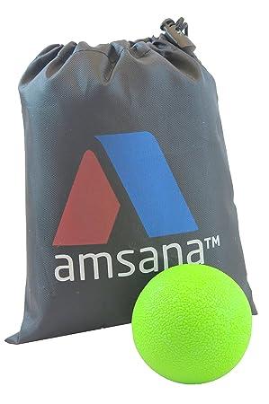 amsana TM con bolsa de nailon - Pelota de lacrosse para masaje de ...