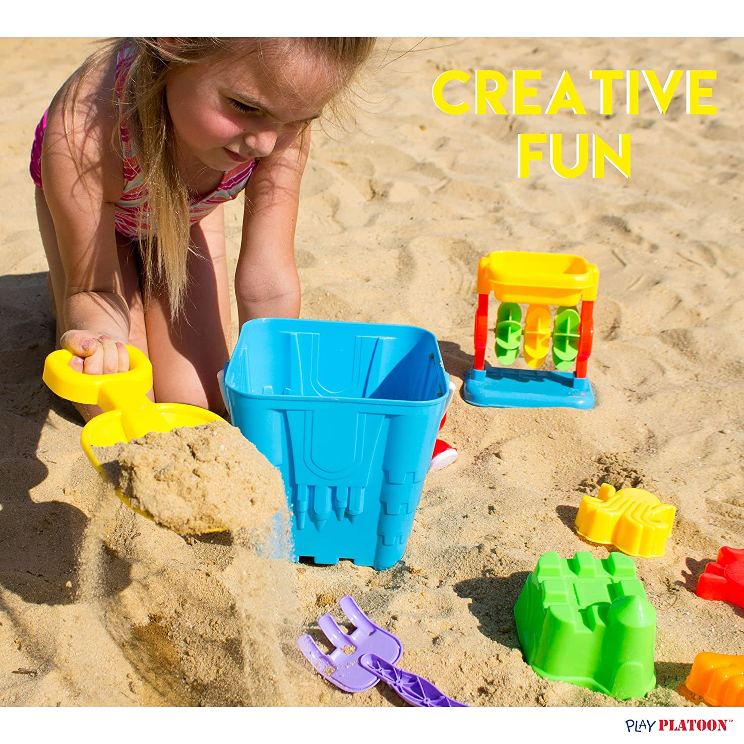Amazon 12 Piece Sand Castle Building Kit Beach Toys Set