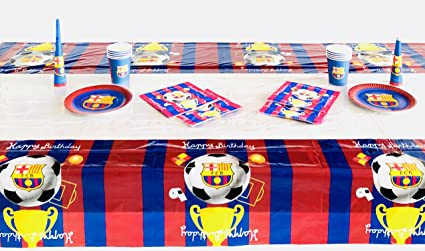Amazoncom FC Barcelona Birthday Party Decoration Table Cloth Toys - Barcelona fc table