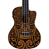 Luna Ukulele Tribal Mahogany Concert with Preamp