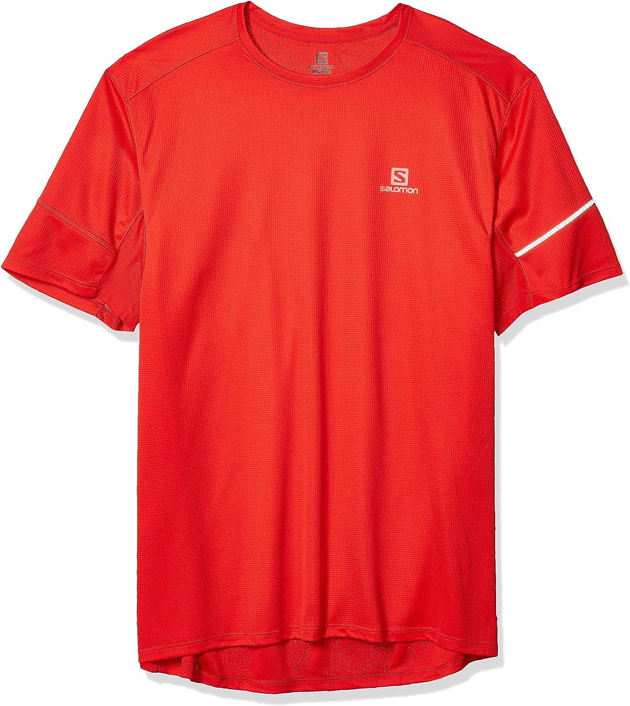 SALOMON Mens Agile Ss Tee M Short Sleeve T-Shirt